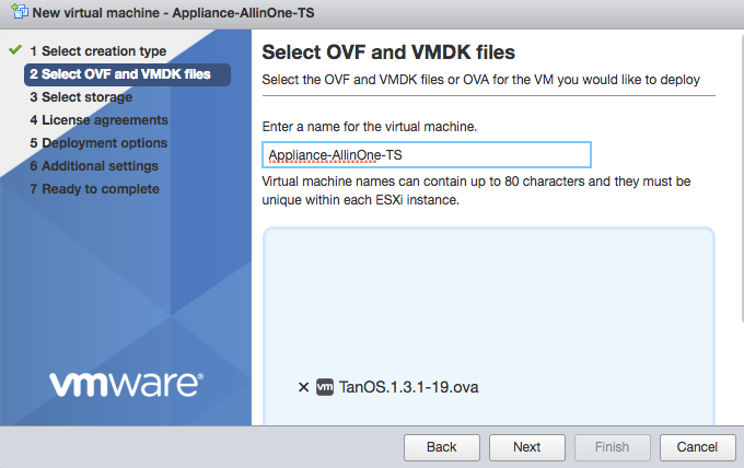 Completing the initial setup (virtual appliances)